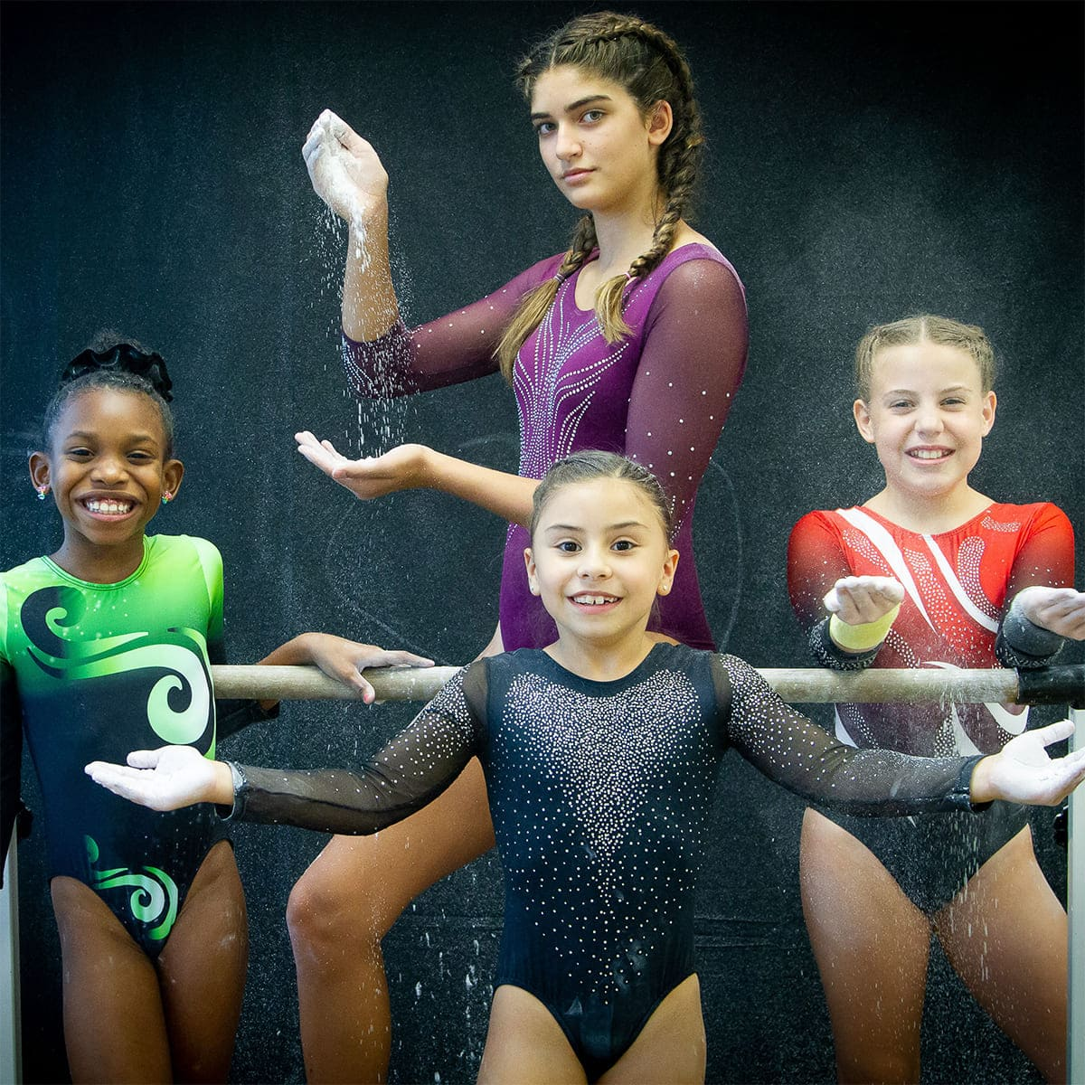 customizable leotard for competition team